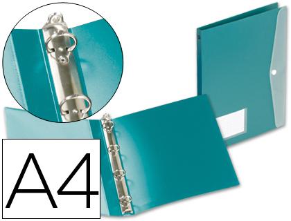 Carpeta 4 anillas con dossier polipropileno A-4 verde Beautone