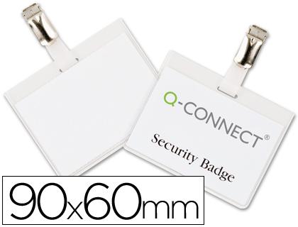 Identificador con pinza 60 x 90 mm cerrada 25 unds