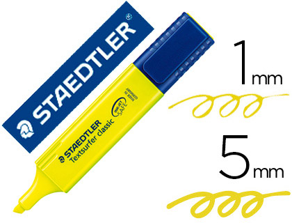 Rotulador fluorescente amarillo Staedtler textsurfer