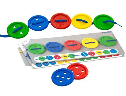 juego de ensartar botones