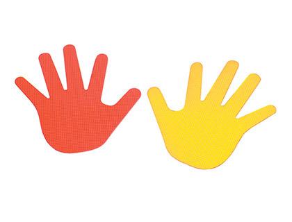 manos de caucho