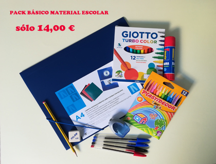 pack basico material escolar