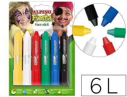 Barra maquillaje Alpino face stick 6 colores surtidos