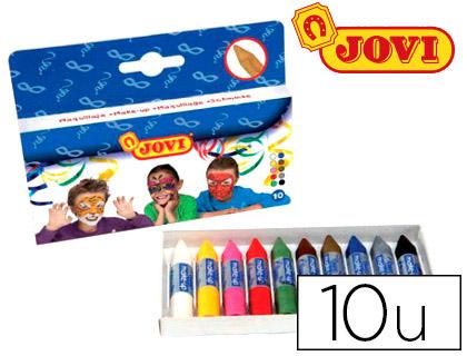 Barra maquillaje Jovi caja de 10 colores surtidos