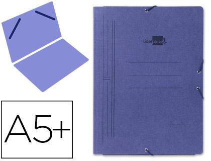 Carpeta de gomas CUARTO sencilla cartón azul