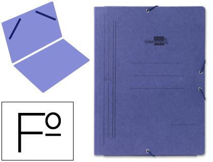Carpeta gomas FOLIO sencilla cartón azul