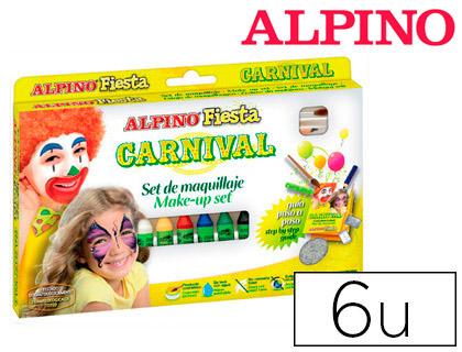 Maquillaje Alpino CARNAVAL 6 colores surtidos