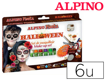 Maquillaje Alpino HALLOWEN 6 colores surtidos