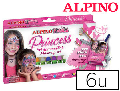 Maquillaje Alpino PRINCESS 6 colores surtidos