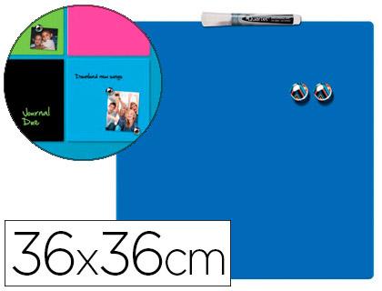 Pizarra magnética hogar azul incluye rotulador y 2 imanes Rexel