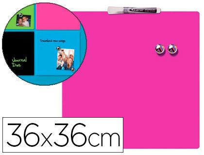 Pizarra magnética hogar rosa incluye rotulador y 2 imanes
