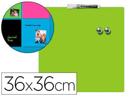 Pizarra magnética hogar verde incluye rotulador y 2 imanes