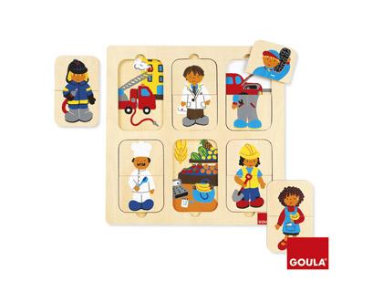 Puzle diferentes profesiones Goula