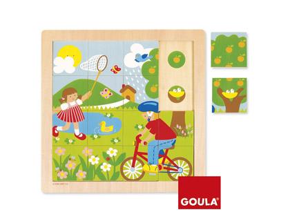 Puzle madera primavera 16 piezas Goula + de 2 años