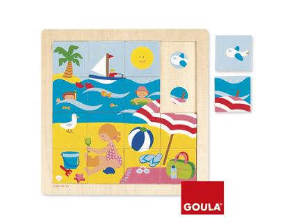 Puzle madera verano 16 piezas Goula + de 2 años