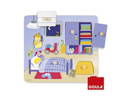 Puzzle madera habitación infantil Goula + de 2 años