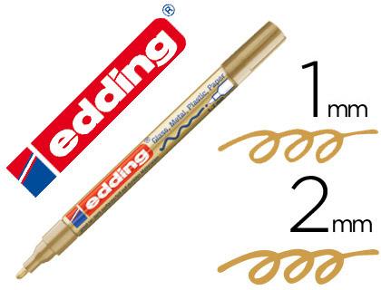 Rotulador Edding 751 oro punta fibra redonda 1-2 mm