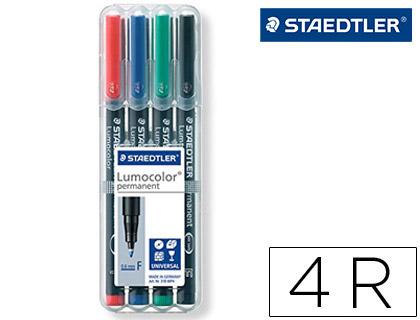 Rotulador Staedtler retroproyección Lumocolor 4 colores 1,6 mm