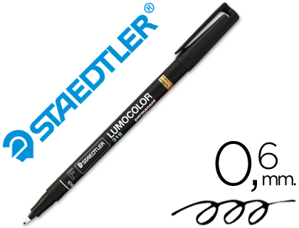 Rotulador permanente Staedtler Lumocolor Negro 0.6 mm