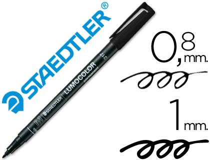 Rotulador permanente Staedtler Lumocolor Negro 0,8-1 mm