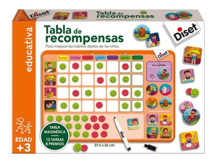 Tabla de recompensas Diset + de 3 años