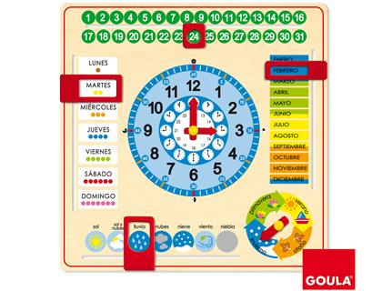 reloj calendario escolar