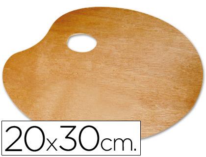 Paleta de madera para zurdos