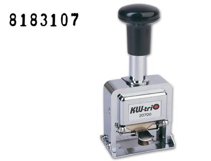 Numerador automático ACERO 4 mm.