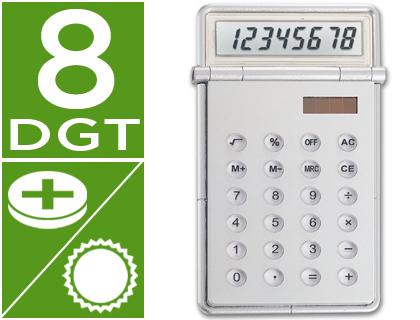Calculadora sobremesa solar y pilas 8 dgt