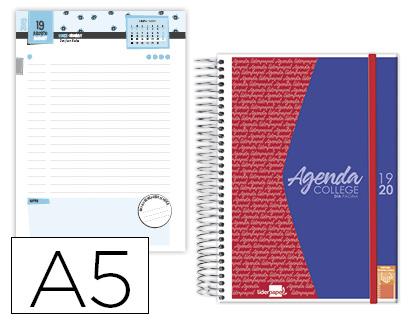 Agenda Escolar 19-20 College Bilingüe Día Página TAPA PERSONALIZABLE