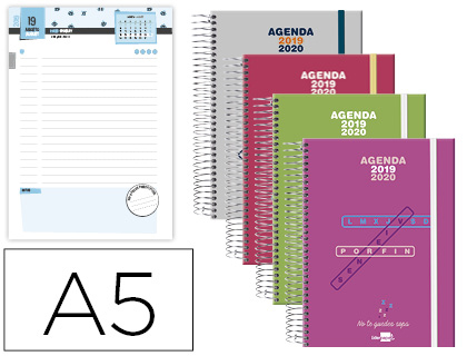 Agenda Escolar 19-20 College Date Bilingüe DÍA/PÁGINA