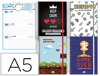 Agenda Escolar 19-20 Video Games Semana Vista