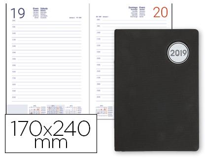Agenda 2019 día página 17 x 24 cm Kilkis negra