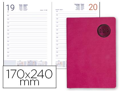 Agenda 2019 día página 17 x 24 cm Kilkis rosa