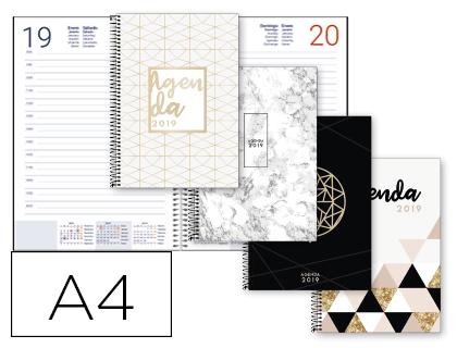 Agenda 2019 espiral Día Página A4 Gazi