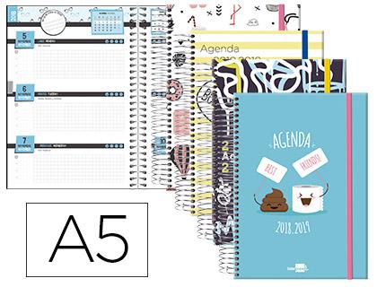 Agenda Escolar 18-19 Semana Vista Bilingüe Fantasía POP ART
