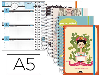 Agenda Escolar 18-19 Semana Vista Bilingüe Fantasía She