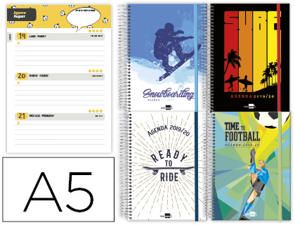 Agenda Escolar 19-20 Sports Stars Semana Vista