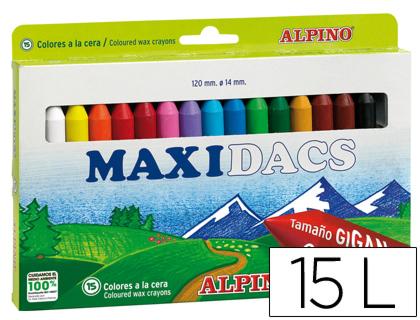 Lápices de cera Alpino maxidacs 15 colores