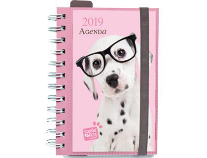 agenda 2019 de espiral día página dog