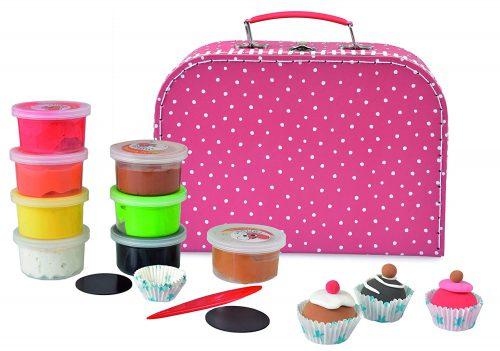 maletin creativo con imanes y cup cakes plastilina