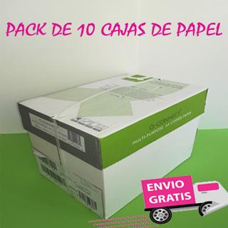 10 cajas de 5 paquetes