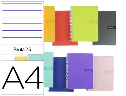 Cuaderno espiral a4 pauta 2,5mm