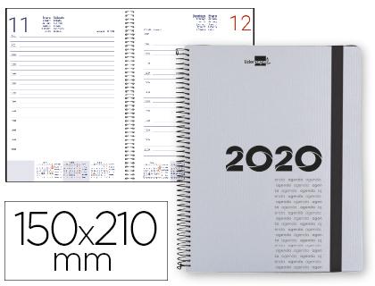 Agenda 2020 espiral A-5 día página gris