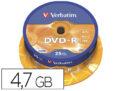 DVD-R Verbatim tarrina de 25 unds