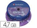 DVD+R Verbatim tarrina de 25 unds